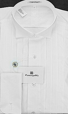 100% Pima Cotton. Wing Collar Tuxedo Shirt in the Gift Box