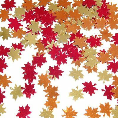 Autumn Leaves Table Confetti 28g Autumn & Halloween Maple Leaf Party Decorations