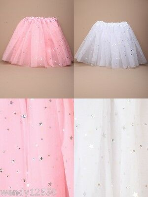 Pack Of 3 Net Tutu / Tu-Tu With Apliqued Stars : Dance : Party : Fancy Dress