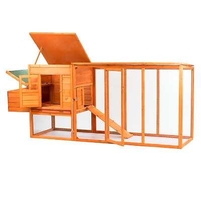 Extra Large Hen House Chicken Coop With Run Enclosure Animal Rabbit Pet Hutch