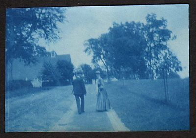 1899 VISITING MT. VERNON Vintage CYANOTYPE Photo