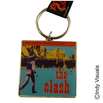 The Clash Super Black Market Clash Cover OFFICIAL Gift Metal Keyring