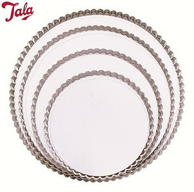 Tala Fluted Flan Tin With Loose Bottom 20Cm Cake Pastry Baking Kitchen Home New