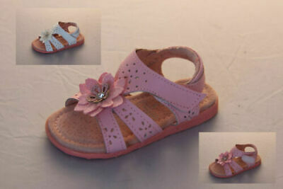 Girls Shoes ProActive Tulip Blue//White//Pink Flower Sandals Size 7-13 AdhesiveTab