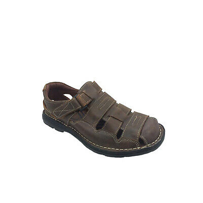 Mens Shoes Sandals Borelli Redfield Brown Rubbed Leather Sandals Size 6-12