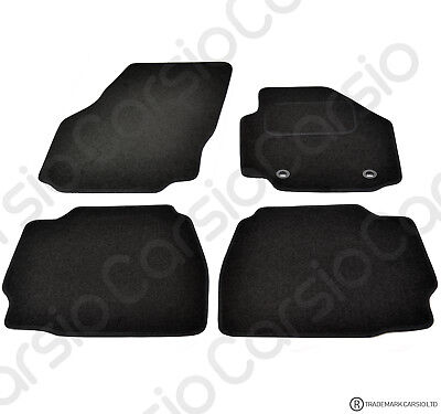 Ford Mondeo 2007 - 2013 Tailored Black Car Floor Mats Carpets 4 piece Set Oval