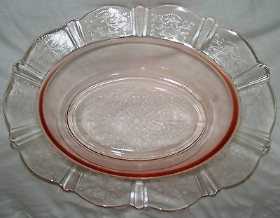 MacBeth-Evans Depression Glass Pink American Sweetheart Oval Vegetable Bowl Wow!