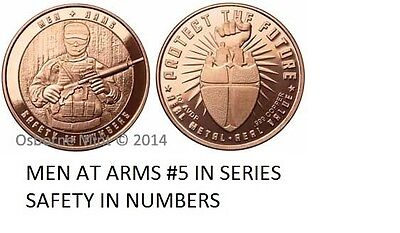 10-1 Oz Copper Coins *men At Arms* Safety In Numbers 2Nd Amendment 1-20-100