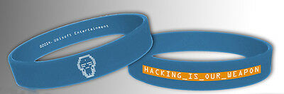 Watch Dogs Gummi Armband Hacking Is Your Weapon NEU & OVP