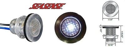 """Seasense Boat Marine 1/"""" White Storage Clips 1 Pair For Rods Lights Gafs"""