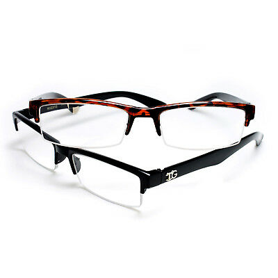 Choose Your Color Unisex Mens Half Frame Clear Lens Classic Fashionable Style