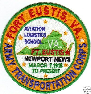 Us Army Post Patch, Fort Eustis, Va. Army Transportation Corps                Y