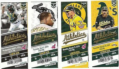 2014 OAKLAND ATHLETICS PICK YOUR GAME DONALDSON 1st half TICKET STUB MANY DATES