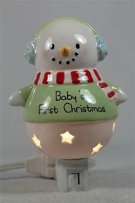 Baby's First Christmas-Snowman Night Light by Grasslands Road #463100-NIB!