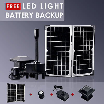 Solar Powered Panel Fountain Pond Pool Water Garden Watering Pump Kit 180L/H  AU