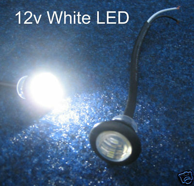 Button 12v White LED light limo/interior/waterproof