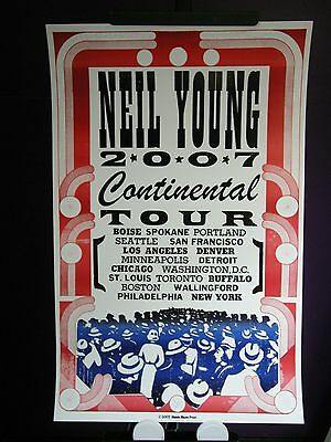 2007 Neil Young Continental USA Concert Tour Hatch Poster
