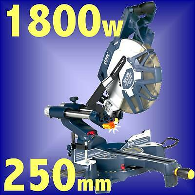 GMC DB250SMS 1800w 250mm Sliding Compound Double Bevel Mitre Table Saw
