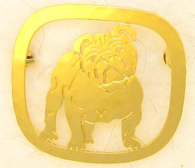 Bulldog Jewelry Gold Locking Back  Pin by Touchstone