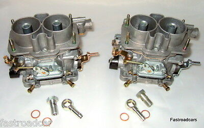 Weber Genuine 40 Dcnf 12 Pair Carb/ Carburettors + Fuel Unions Special Price