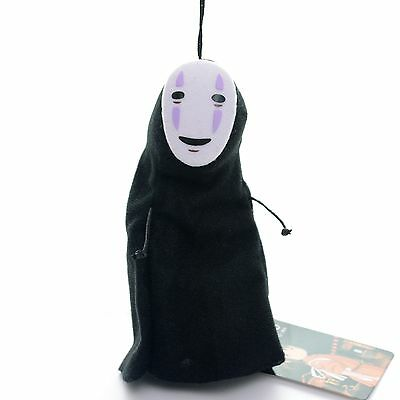 Cute SPIRITED AWAY faceless Black No Face Gost Plush Anime Toy Doll 6'' New