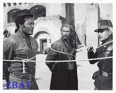 Jim Brown Lee Van Cleef bound w/rope VINTAGE Photo El Condor