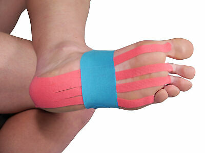 ISPORT PRECUT CALF ACHILLES HEEL KINESIOLOGY MUSCLE INJURY TAPING TAPE KITS 5CM