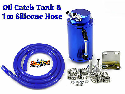 Blue Alloy Oil Catch Tank Can Kit With Hose Escort Sierra RS Turbo Cosworth