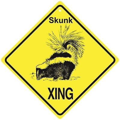 Skunk Crossing Xing Sign New Made in USA