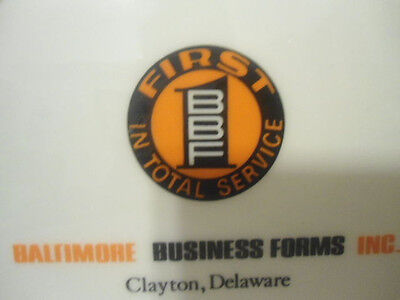 """Baltimore Business Forms Inc., Delaware Commemorative Plate 7"""" used good cond"""