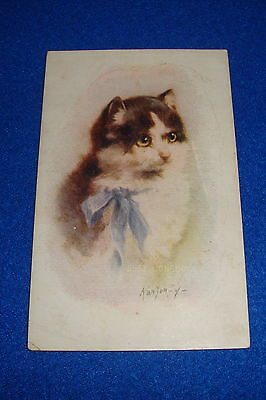 Artist Signed Kenyon Cat Postcard Titled Lonesome Unmarked
