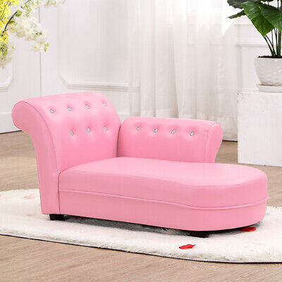 Kindersofa Couch Kinder Stuhl Kinderzimmer Softsofa Möbel Chaiselongue Sofa Rosa