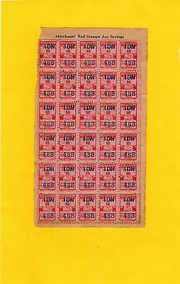 Small Vintage Lot Of Merchants' Red Stamps Cleveland Ohio