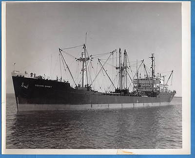 1940-50s Freighter SS Square Sinnet Original 8x10 Photo