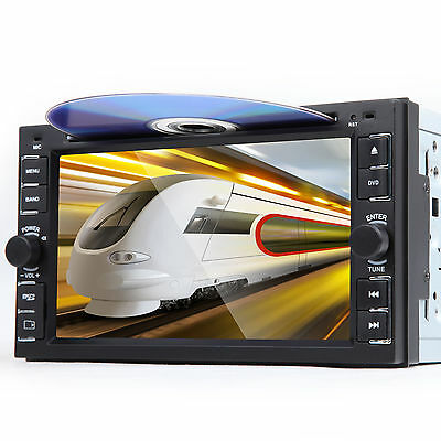 """US New Double DIN 6.2"""" Car DVD Player Bluetooth Touch Screen EB MP3 Radio Stereo"""