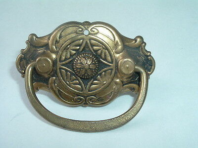 Vintage Victorian Brass Antique Drawer & Cabinet Pull Handle Knob