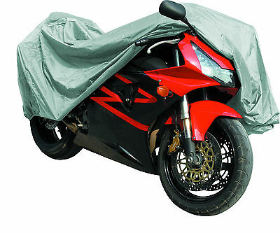 MOTORCYCLE MotorBike COVER Waterproof Rain Dust PROTECTOR by Qtech - Large
