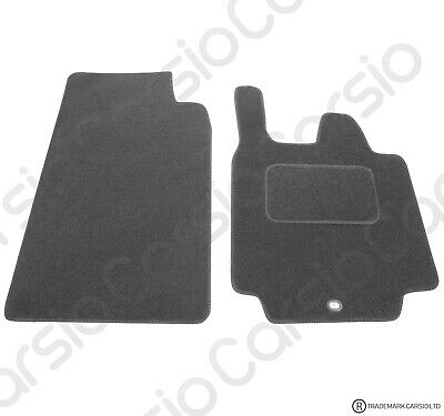 Smart For Two 2007 (57) to 2014 Tailored Black Trim Car Floor Mats 2 Piece Set