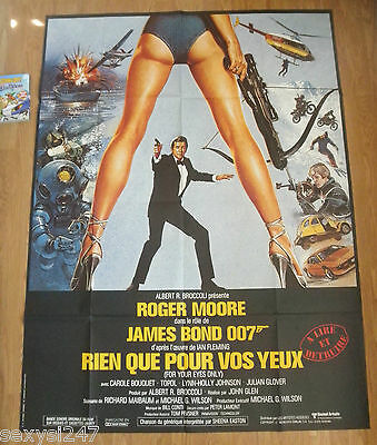 For Your Eyes Only James Bond 007 Huge 1981 Original French Cinema Grande Poster