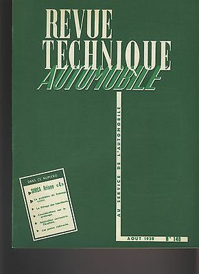 (27B)Revue Technique Automobile Simca Ariane 4 / Renault Dauphine