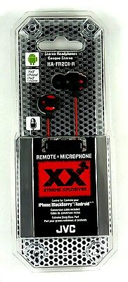 HAFR201R JVC XTREME Xplosives Inner-Ear Earbuds with Microphone & Remote (Red)