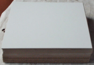 "25 Lot ; 6"" x 6"" Med. Wt. Chipboard's; new/unused; gd+ cond ; white front side"