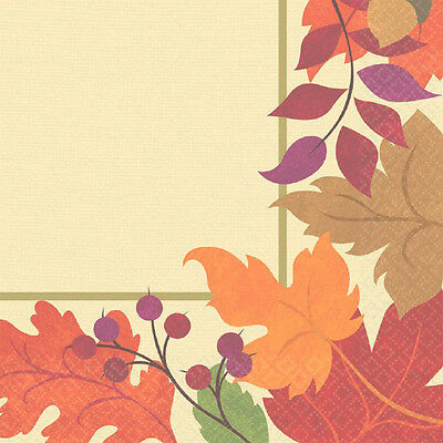Amscan Festive Fall Autumn Thanksgiving Luncheon Napkins 36 Count 711174
