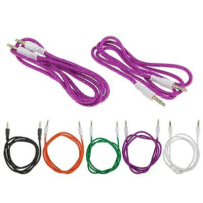Braided 3.5mm AUXILIARY CORD Male to Male Stereo Audio Cable for PC iPod MP3 CAR