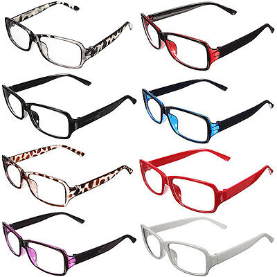 Fashion Unisex Clear Retro Shell Lens Plain Nerd Geek Glasses With Plastic Frame