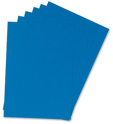 100 A4 Leather Grain Heavy Weight Card Board Covers 4 Comb Binders Blue ¸ 916442