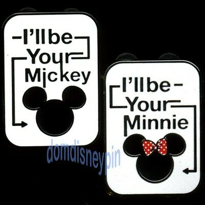 Disney Pin Set - *I'll be your Mickey* & *I'll be your Minnie* (2 Pins)!