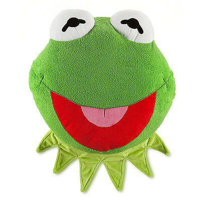 "NEW Disney Authentic Muppets Kermit Frog Large14"" Plush Stuffed Pillow NWT"