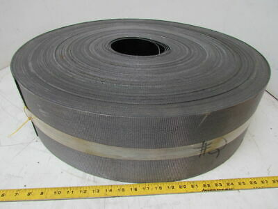 "Smooth Top Material Handling Conveyor Belt 7""x500' Long .085""Thick Black PVC"