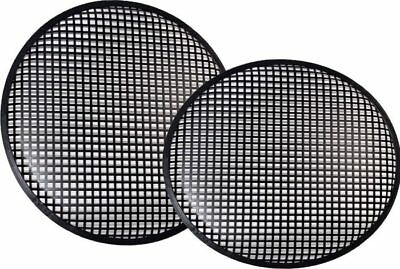 "New Pair 12"" Speaker Grills Covers Subwoofer Box Metal Mesh Black Grille"